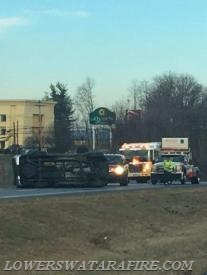 Accident with rollover - I283 N prior to PA Rte 441 Photo courtesy of Kori Weikle